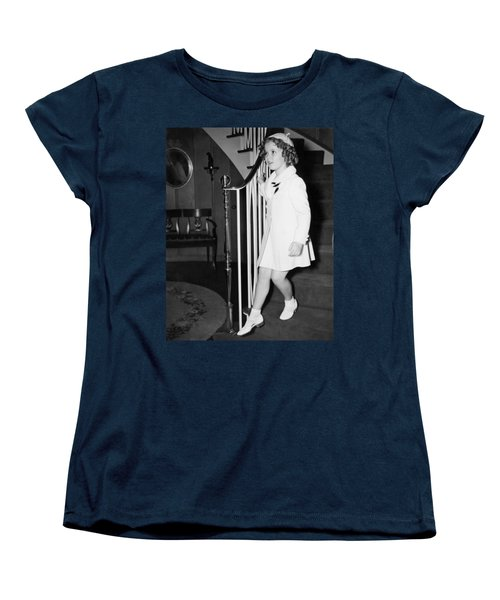 Actress Shirley Temple Women's T-Shirt (Standard Cut) by Underwood Archives