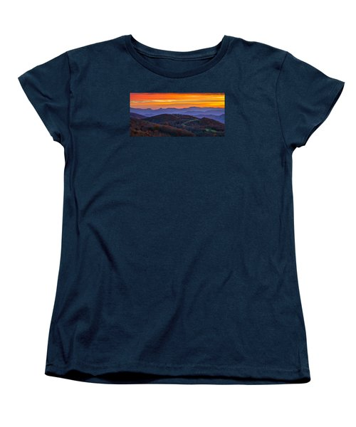 Appalachian Sunrise Women's T-Shirt (Standard Cut) by Serge Skiba