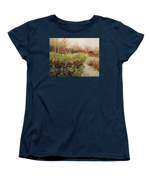 Beach Bikes Women's T-Shirt (Standard Cut) by Mary Hubley