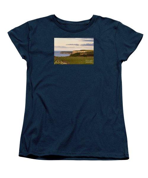 Bempton Cliffs Women's T-Shirt (Standard Cut) by David  Hollingworth