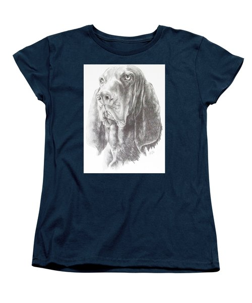 Black And Tan Coonhound Women's T-Shirt (Standard Cut) by Barbara Keith