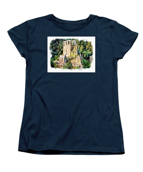 Women's T-Shirt (Standard Cut) featuring the photograph Burg Eltz - Moselle by Joseph Hendrix