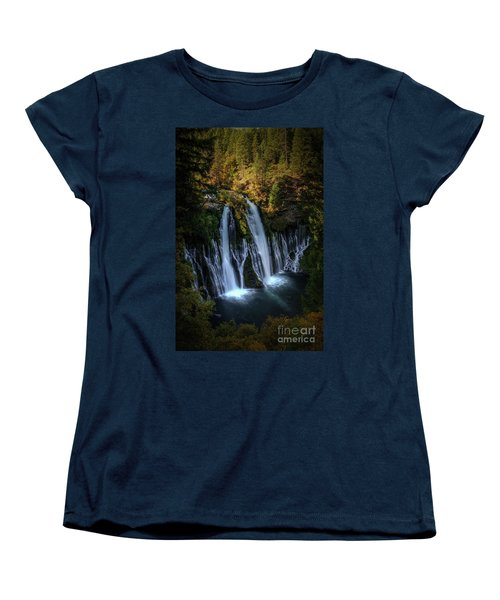 Women's T-Shirt (Standard Cut) featuring the photograph Burney Falls by Kelly Wade