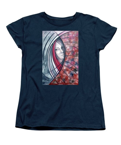 Women's T-Shirt (Standard Cut) featuring the painting Catch Me If You Can 080908 by Selena Boron