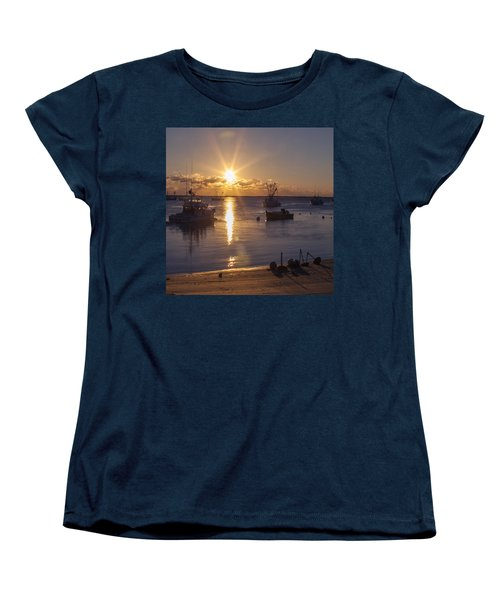 Women's T-Shirt (Standard Cut) featuring the photograph Chatham Sunrise by Charles Harden