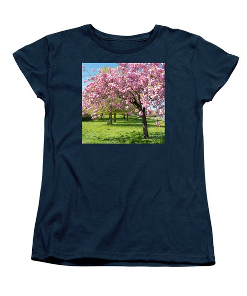 Cherry Blossom Tree Women's T-Shirt (Standard Cut) by Colin Rayner