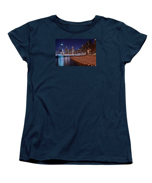 Chicago From The North Women's T-Shirt (Standard Cut) by Frozen in Time Fine Art Photography