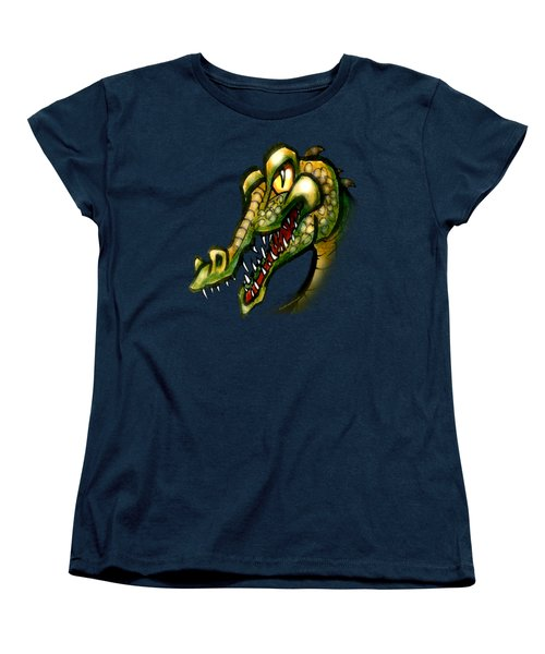Crocodile Women's T-Shirt (Standard Cut) by Kevin Middleton
