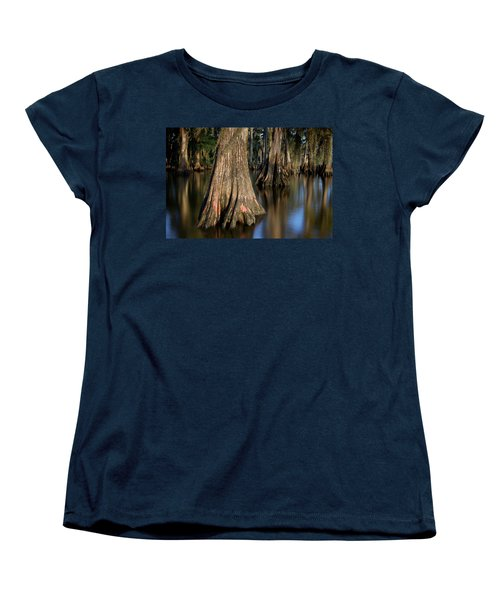 Women's T-Shirt (Standard Cut) featuring the photograph Cypress Trees by Evgeny Vasenev