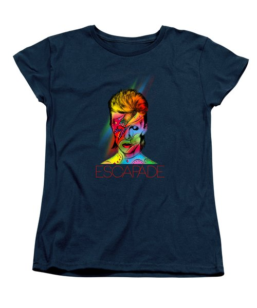 David Bowie Women's T-Shirt (Standard Cut) by Mark Ashkenazi
