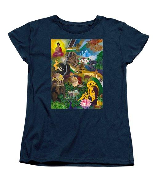 Discover India Women's T-Shirt (Standard Cut) by Alika Kumar