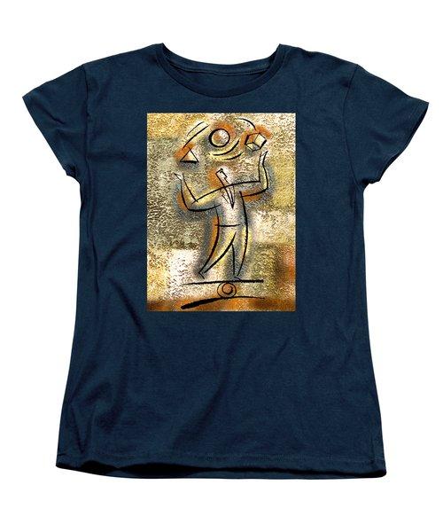 Women's T-Shirt (Standard Cut) featuring the painting Entrepreneur by Leon Zernitsky