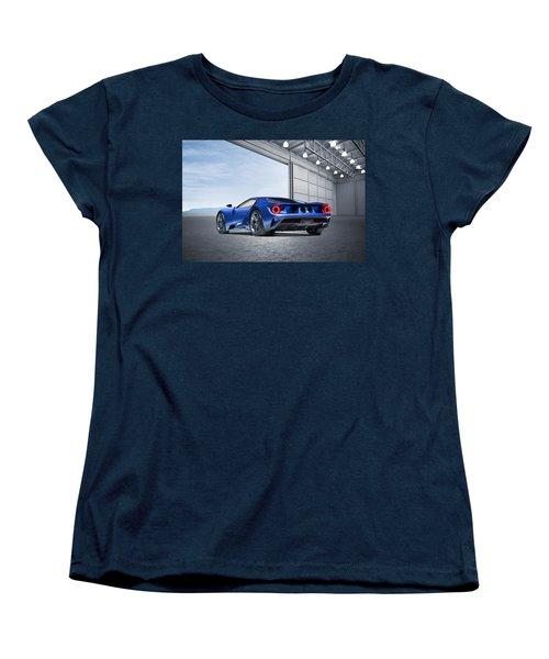 Women's T-Shirt (Standard Cut) featuring the digital art Ford Gt by Peter Chilelli