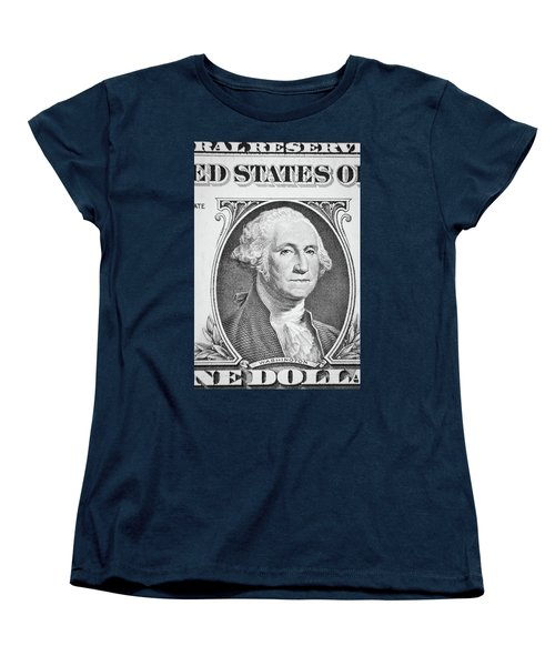Women's T-Shirt (Standard Cut) featuring the photograph George Washington by Les Cunliffe