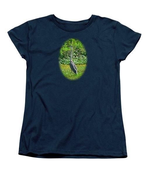 Great Blue Heron Women's T-Shirt (Standard Cut) by Deborah Good