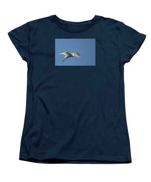 Great Egret Women's T-Shirt (Standard Cut) by Linda Geiger