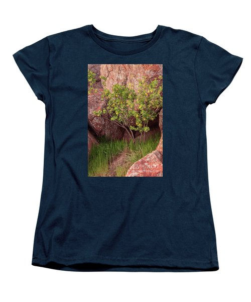 Women's T-Shirt (Standard Cut) featuring the photograph Hidden by Iris Greenwell
