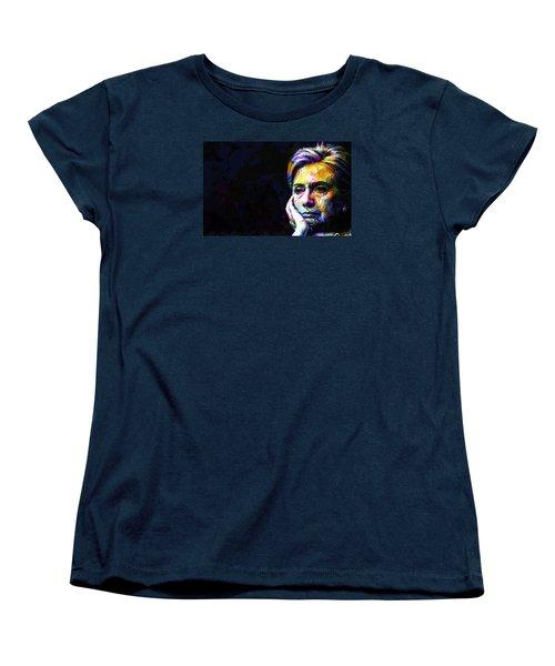 Hillary Clinton Women's T-Shirt (Standard Cut) by Svelby Art
