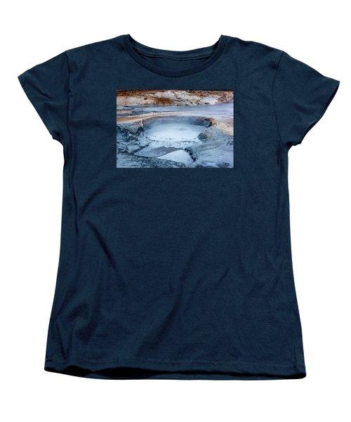 Hverir Steam Vents In Iceland Women's T-Shirt (Standard Cut) by Joe Belanger