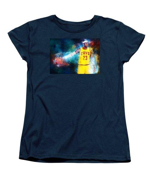 Lebron James Women's T-Shirt (Standard Cut) by Taylan Apukovska
