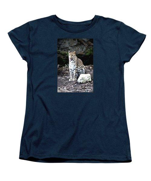 Leopard Women's T-Shirt (Standard Cut) by Janice Spivey