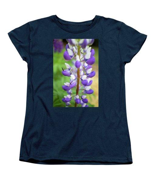 Women's T-Shirt (Standard Cut) featuring the photograph Lupine Blossom by Robert Clifford