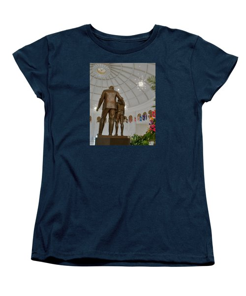 Women's T-Shirt (Standard Cut) featuring the photograph Milton Hershey And The Boy by Mark Dodd