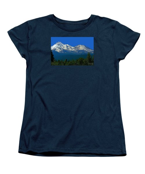 Mt. Shasta Women's T-Shirt (Standard Cut) by Steve Warnstaff