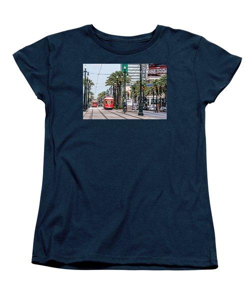 New Orleans Canal Street Streetcars Women's T-Shirt (Standard Cut)