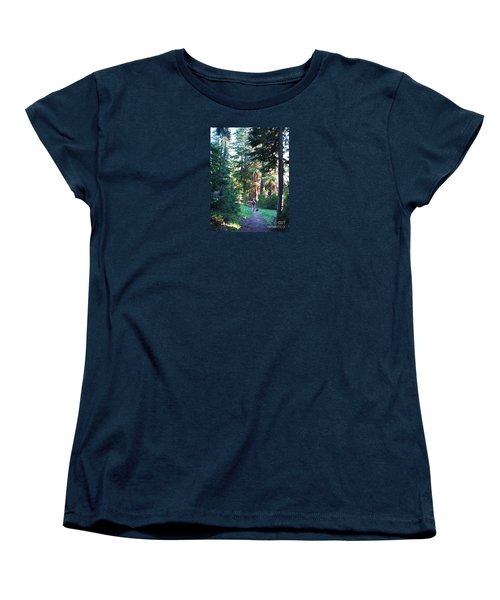On A Hike Women's T-Shirt (Standard Cut) by Michele Penner