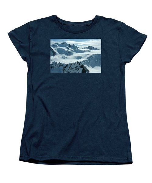 Women's T-Shirt (Standard Cut) featuring the photograph Pitztal Glacier by Christian Zesewitz