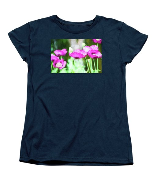 Women's T-Shirt (Standard Cut) featuring the painting Poppies by Bonnie Bruno