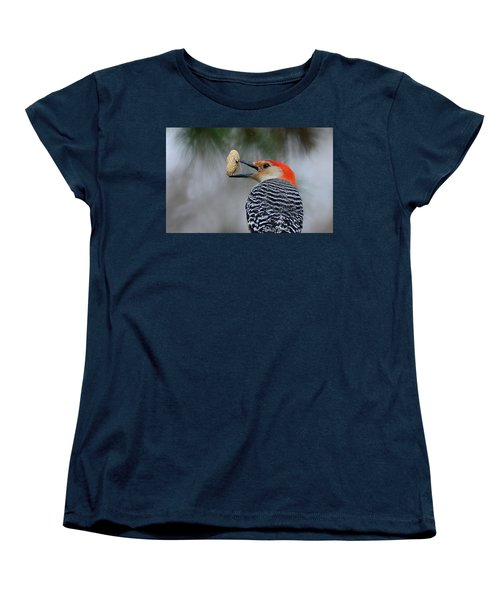 Red-bellied Woodpecker Women's T-Shirt (Standard Cut) by Diane Giurco