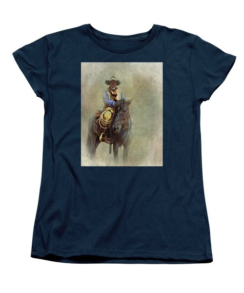 Women's T-Shirt (Standard Cut) featuring the photograph Ride Em Cowboy by David and Carol Kelly