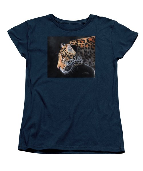 South American Jaguar Women's T-Shirt (Standard Cut) by David Stribbling
