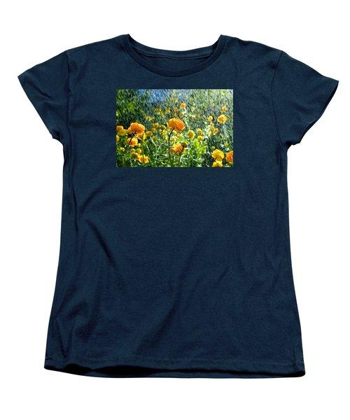 Spring Flowers In The Rain Women's T-Shirt (Standard Cut) by Tamara Sushko