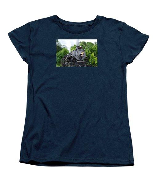 Steam Engline Number 630 Women's T-Shirt (Standard Cut) by Linda Geiger