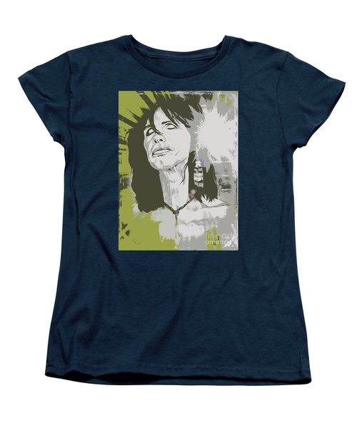 Women's T-Shirt (Standard Cut) featuring the painting Steven Tyler  by Jeepee Aero