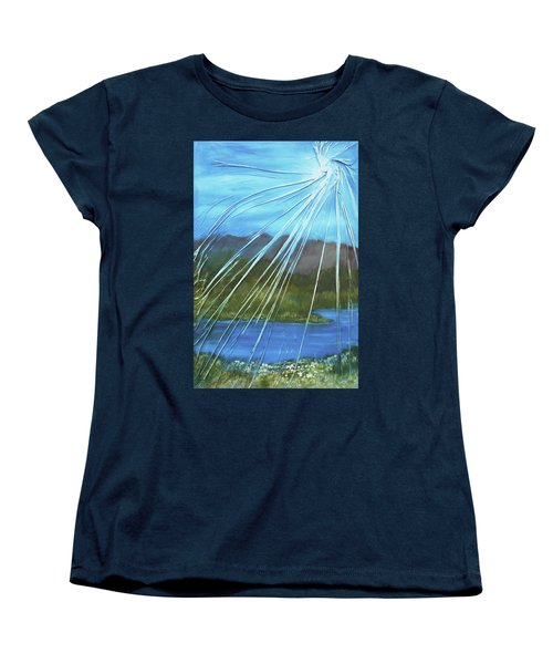 Women's T-Shirt (Standard Cut) featuring the mixed media Sunshine Over Boise by Angela Stout
