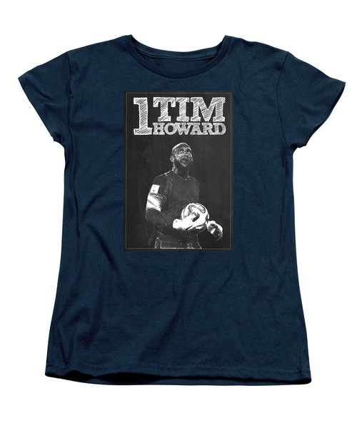 Tim Howard Women's T-Shirt (Standard Cut) by Semih Yurdabak