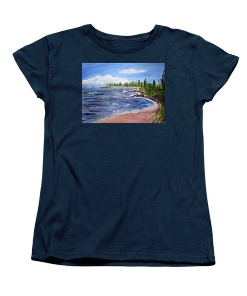 Trixies Cove Women's T-Shirt (Standard Cut) by Clara Sue Beym