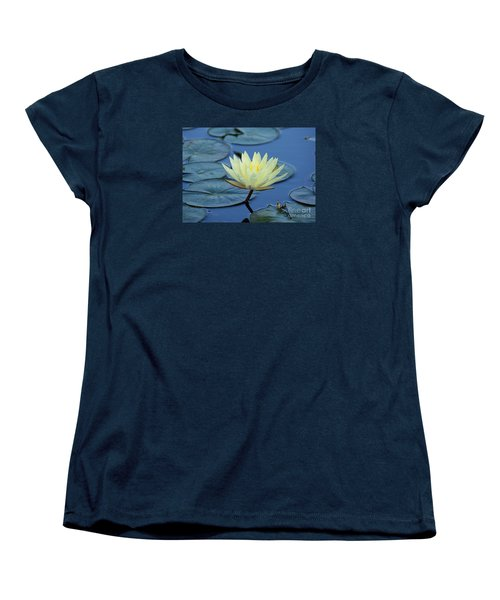 Water Lily Women's T-Shirt (Standard Cut) by Lisa L Silva