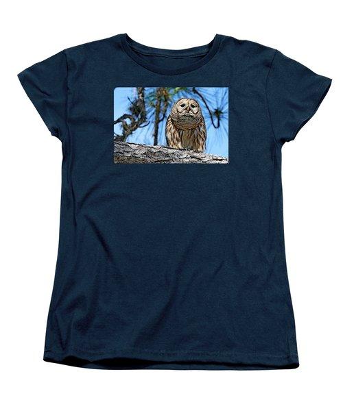 Wise Owl Women's T-Shirt (Standard Cut)