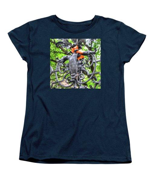Women's T-Shirt (Standard Cut) featuring the pyrography Yury Bashkin Element by Yury Bashkin