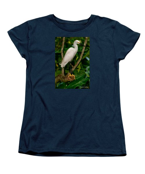Women's T-Shirt (Standard Cut) featuring the photograph White Egret by Christopher Holmes