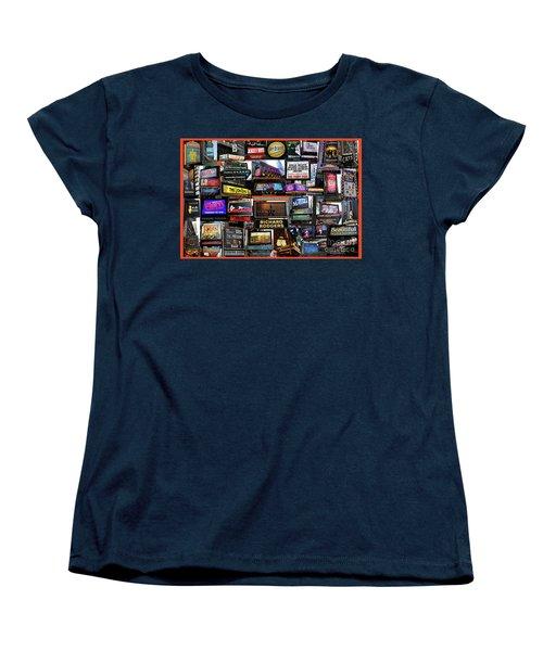 Women's T-Shirt (Standard Cut) featuring the photograph 2016 Broadway Fall Collage by Steven Spak