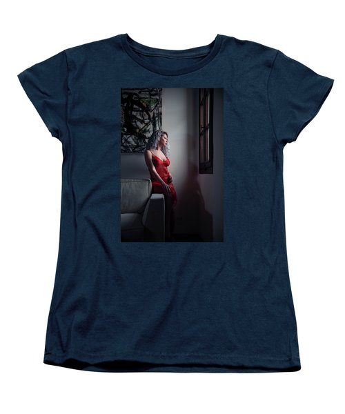 Women's T-Shirt (Standard Cut) featuring the photograph Tu M'as Promis by Traven Milovich