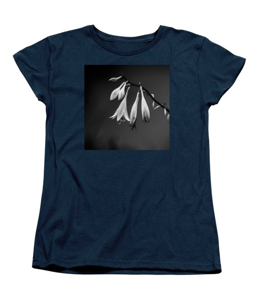 Black And White Flower  Women's T-Shirt (Standard Cut) by Kevin Blackburn