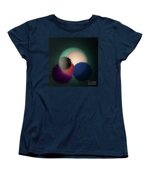 Women's T-Shirt (Standard Cut) featuring the digital art 2986-2017 by John Krakora