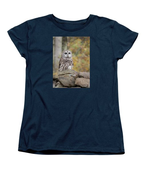 Women's T-Shirt (Standard Cut) featuring the photograph Barred Owl by Tyson and Kathy Smith
